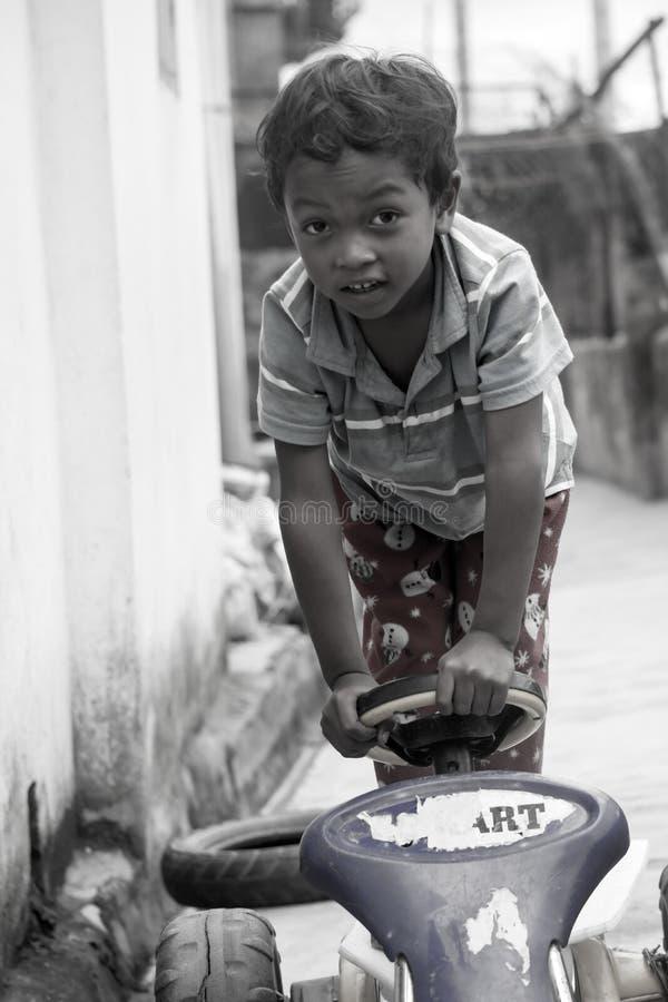 Portret van een kleine jongen royalty-vrije stock afbeelding