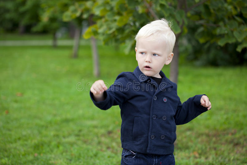 Portret van een kleine jongen van twee jaar royalty-vrije stock afbeeldingen