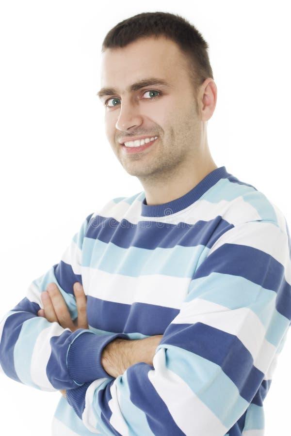 Portret van een knappe jonge mens. stock fotografie