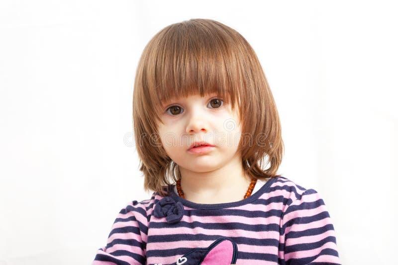 Portret van een leuk Kaukasisch meisje royalty-vrije stock afbeelding