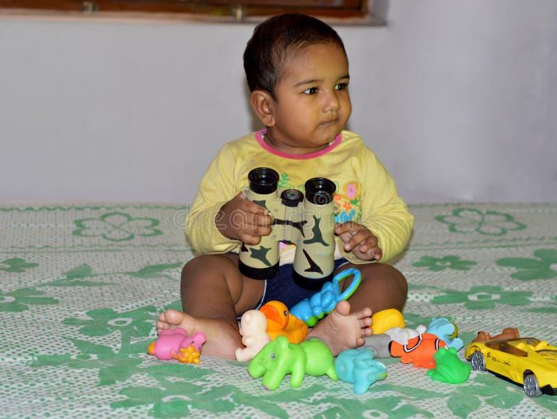 Portret van een leuke babyjongen royalty-vrije stock afbeelding