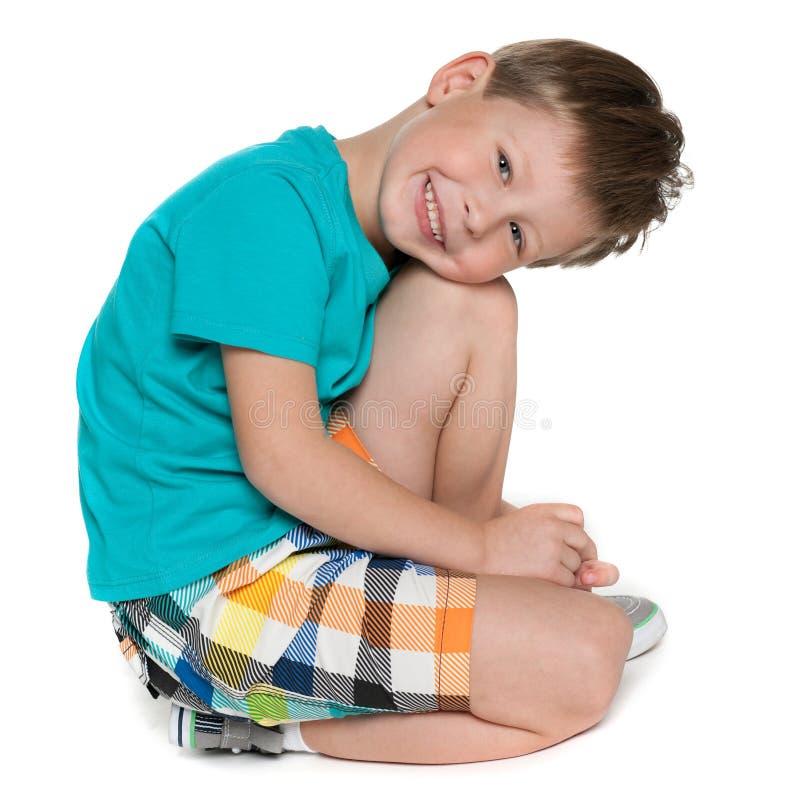 Portret van een leuke kleine jongen stock foto