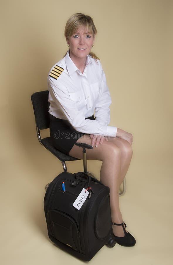 Portret van een luchtvaartlijn proef royalty-vrije stock foto's