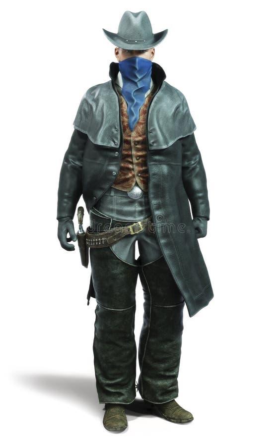 Portret van een mannelijke cowboy Outlaw vector illustratie