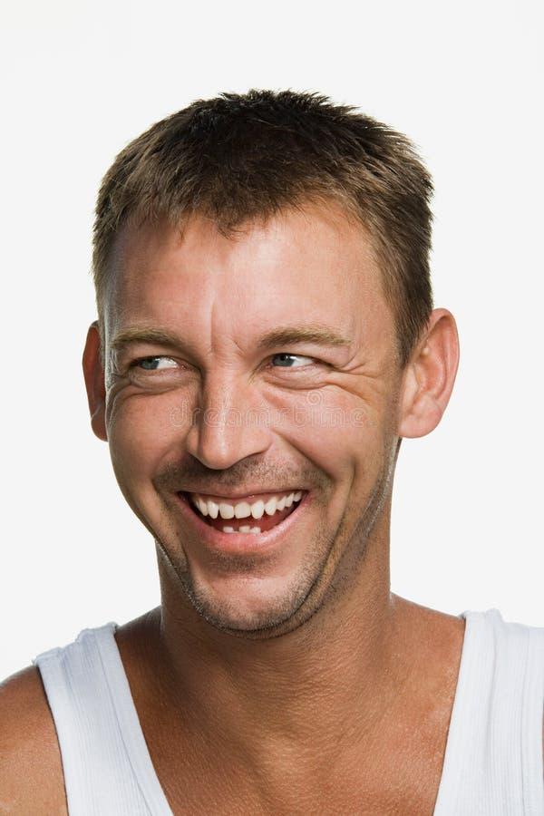 Portret van een medio volwassen mens stock afbeelding