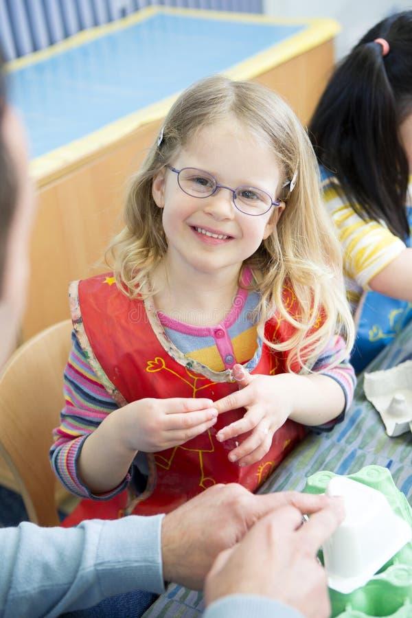 Portret van een Meisje bij Kinderdagverblijf royalty-vrije stock foto