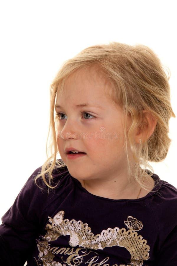 Portret van een meisje. Het hoofd van het kind. stock fotografie