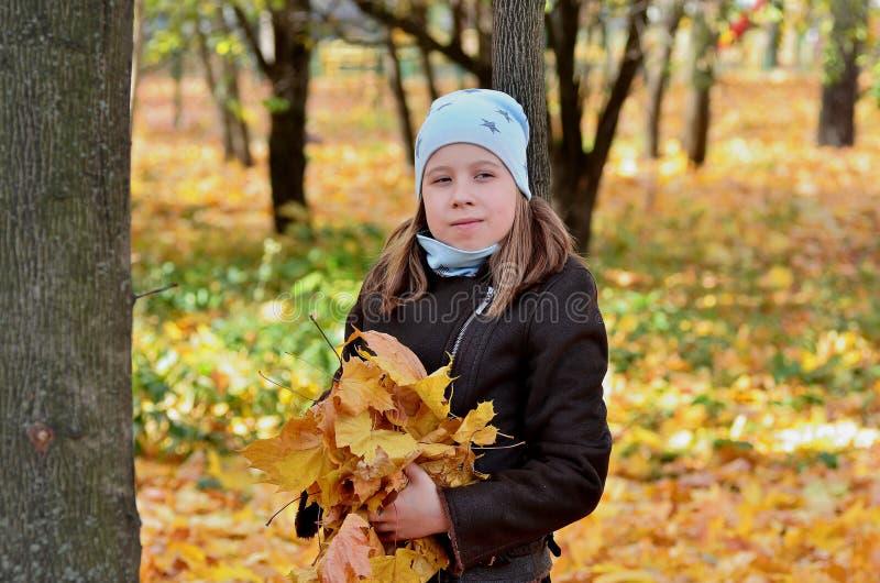 Portret van een meisje van Yong in het de herfstseizoen royalty-vrije stock foto