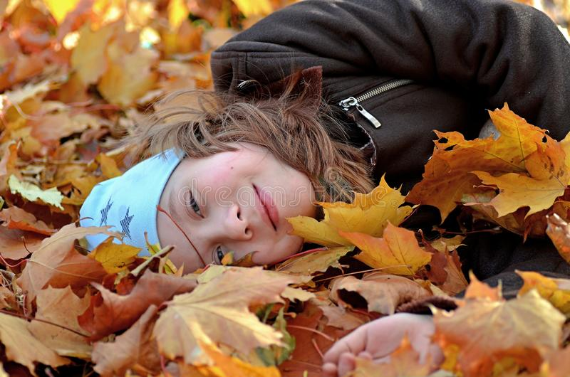 Portret van een meisje van Yong in het de herfstseizoen royalty-vrije stock foto's