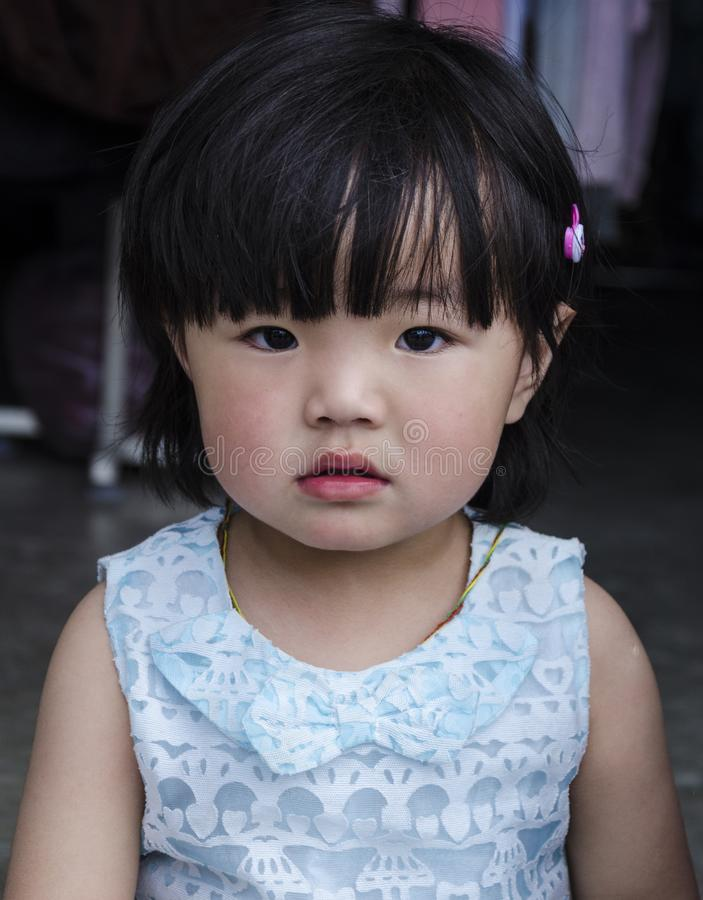 Portret van een meisjeskind stock foto
