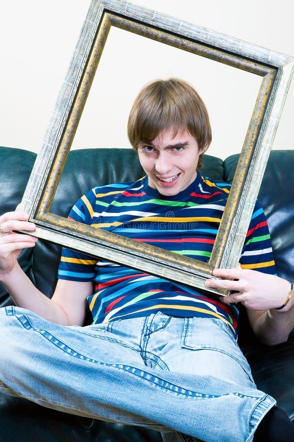 Portret van een mens stock afbeelding
