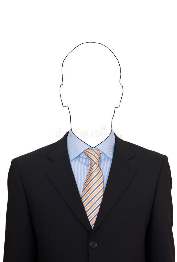 Portret van een mens in kostuum stock foto