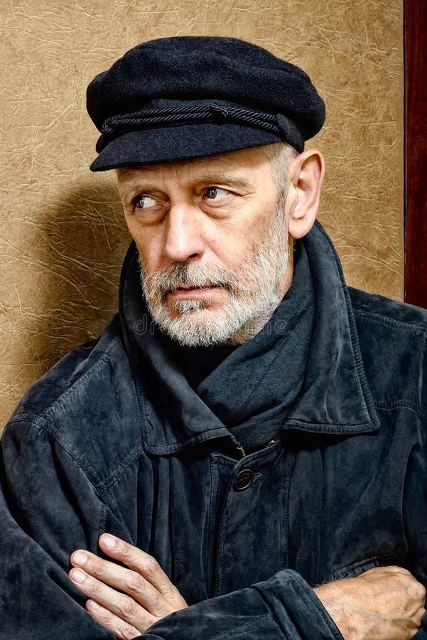 Portret van een Mens met Baard en een GLB stock foto's