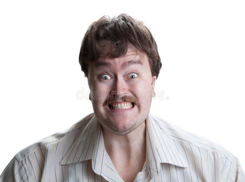Portret van een mens met een geestelijke ziekte royalty-vrije stock foto's