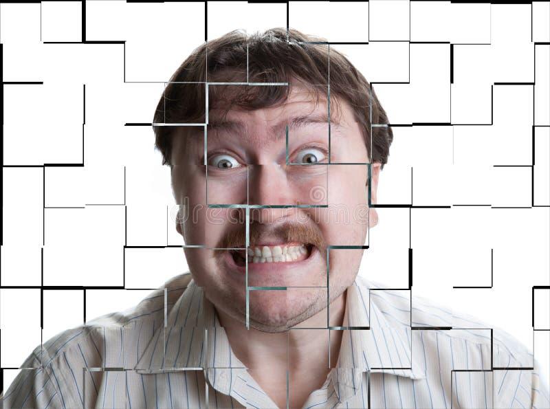Portret van een mens met een geestelijke ziekte royalty-vrije stock foto