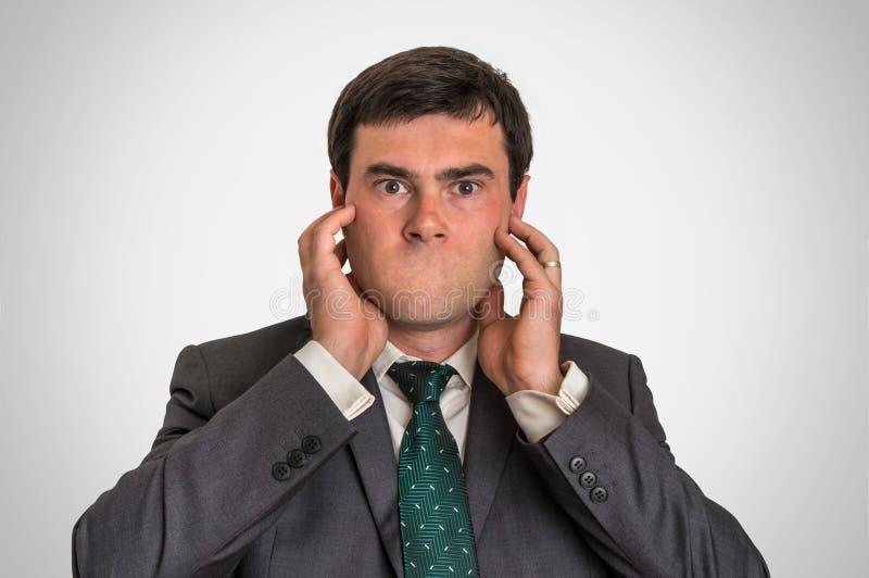Portret van een mens zonder mond stock fotografie