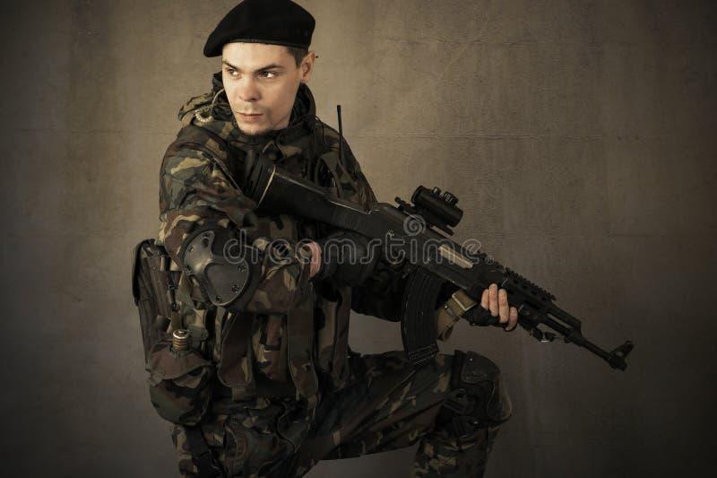 Portret van een militair stock foto