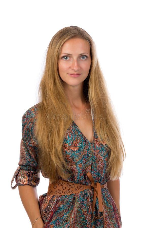 Portret van een mooi 30 éénjarigenmeisje stock afbeelding