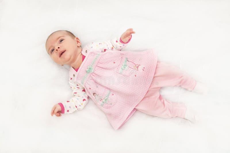 Portret van een mooi babymeisje royalty-vrije stock afbeelding