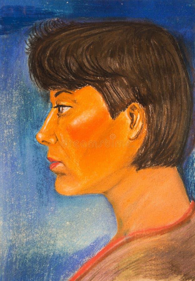Download Portret Van Een Mooi Meisje Stock Illustratie - Illustratie bestaande uit pastelkleur, dame: 107701656