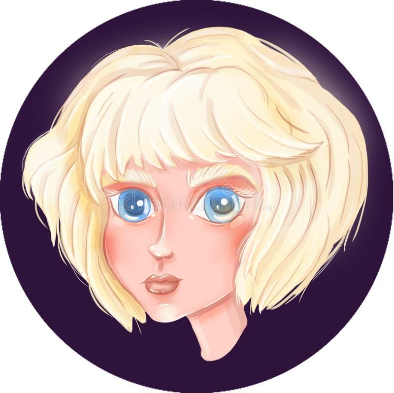Portret van een mooi meisje stock illustratie