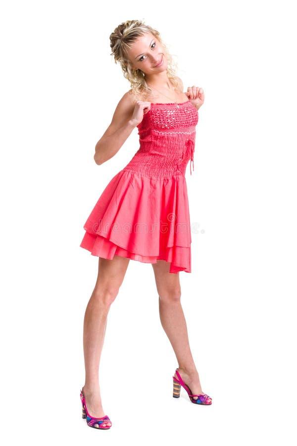 Portret van een mooi meisje in kleding royalty-vrije stock fotografie