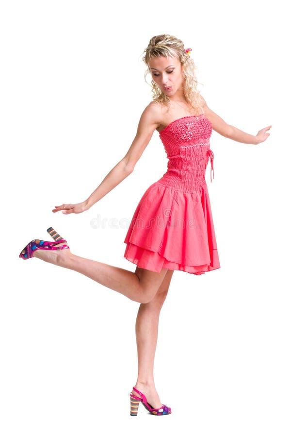 Portret van een mooi meisje in kleding stock fotografie
