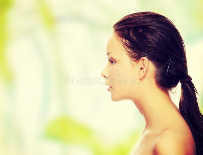 Portret van een mooi model royalty-vrije stock afbeelding