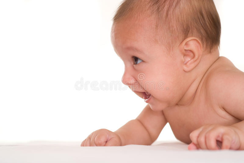 Portret van een mooie baby stock foto's