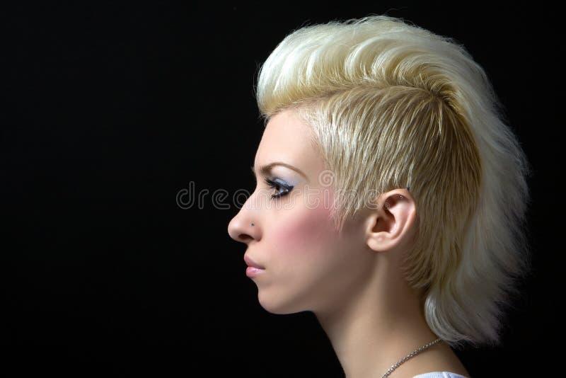Portret van een mooie blonde stock foto's