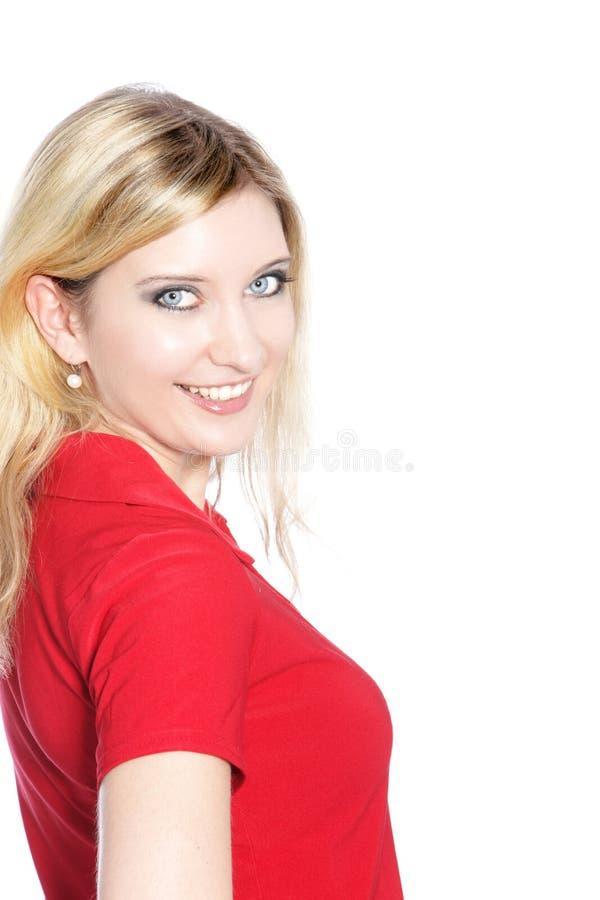 Portret van een mooie blonde haired vrouw royalty-vrije stock fotografie