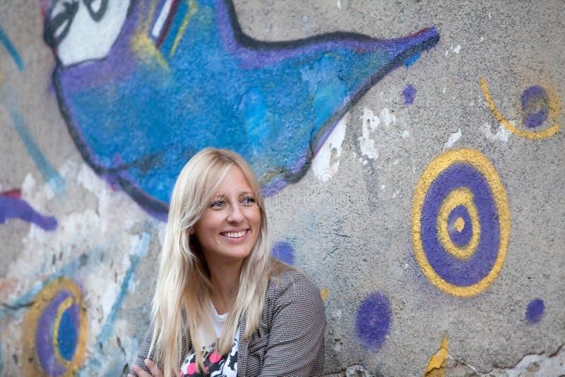 Portret van een mooie blonde vrouw royalty-vrije stock fotografie