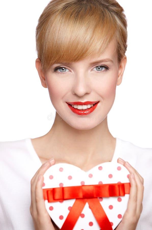 Portret van een mooie blonde vrouw royalty-vrije stock afbeeldingen