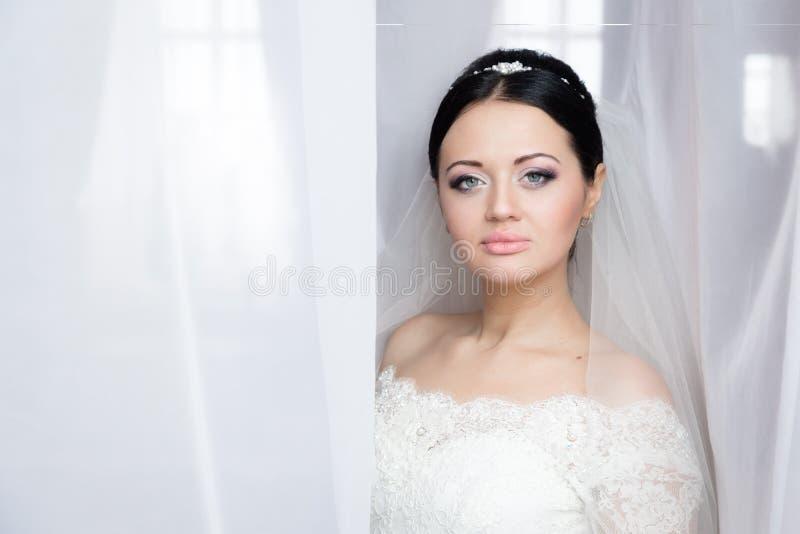 Portret van een mooie bruid royalty-vrije stock fotografie
