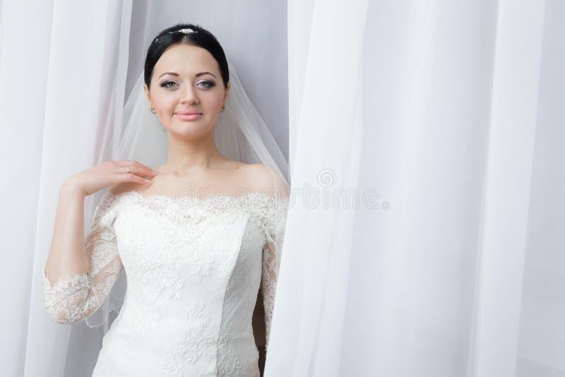 Portret van een mooie bruid stock afbeeldingen