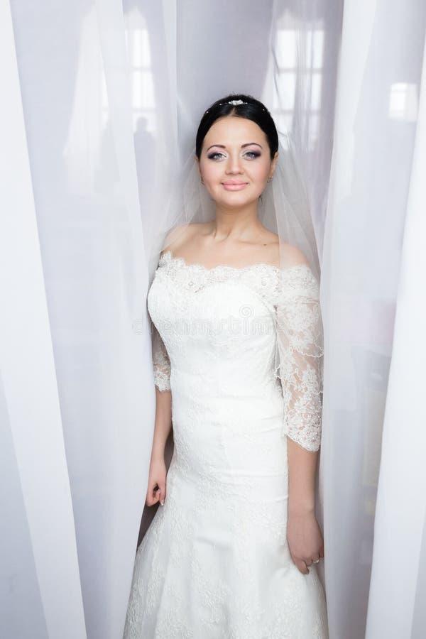Portret van een mooie bruid stock fotografie