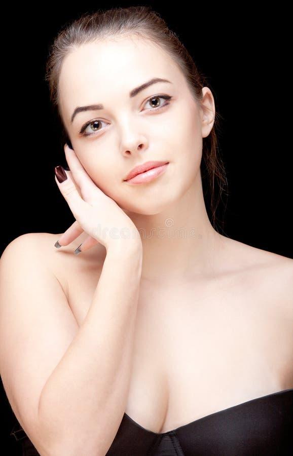 Portret van een Mooie Brunette stock afbeelding