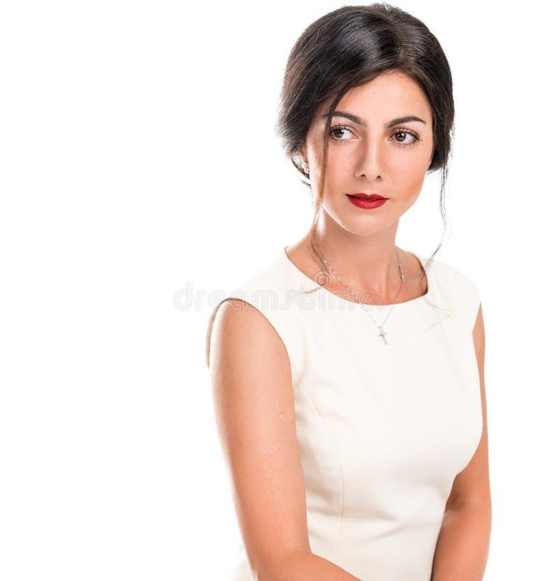 Portret van een mooie elegante vrouw stock fotografie