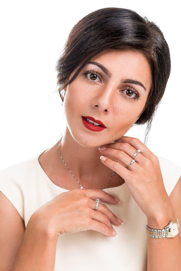 Portret van een mooie elegante vrouw royalty-vrije stock foto