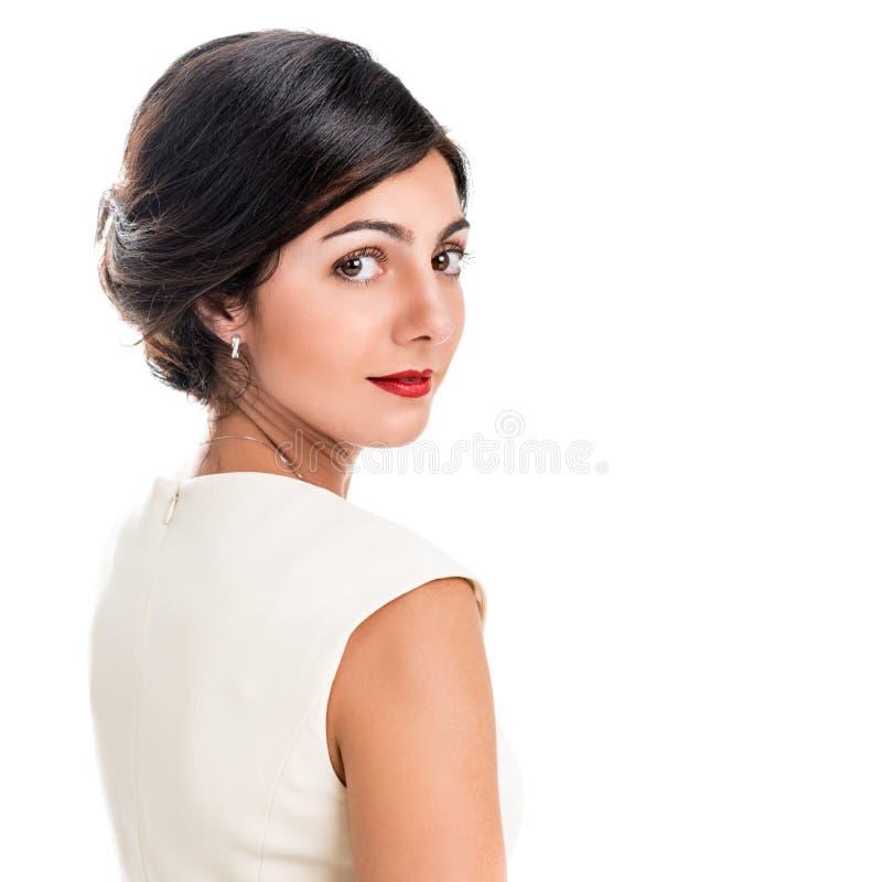 Portret van een mooie elegante vrouw royalty-vrije stock foto's