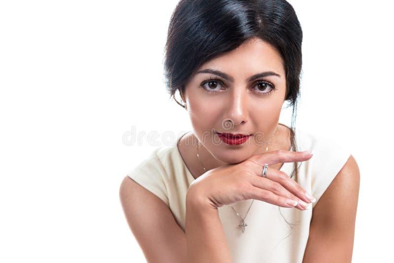 Portret van een mooie elegante vrouw stock afbeelding