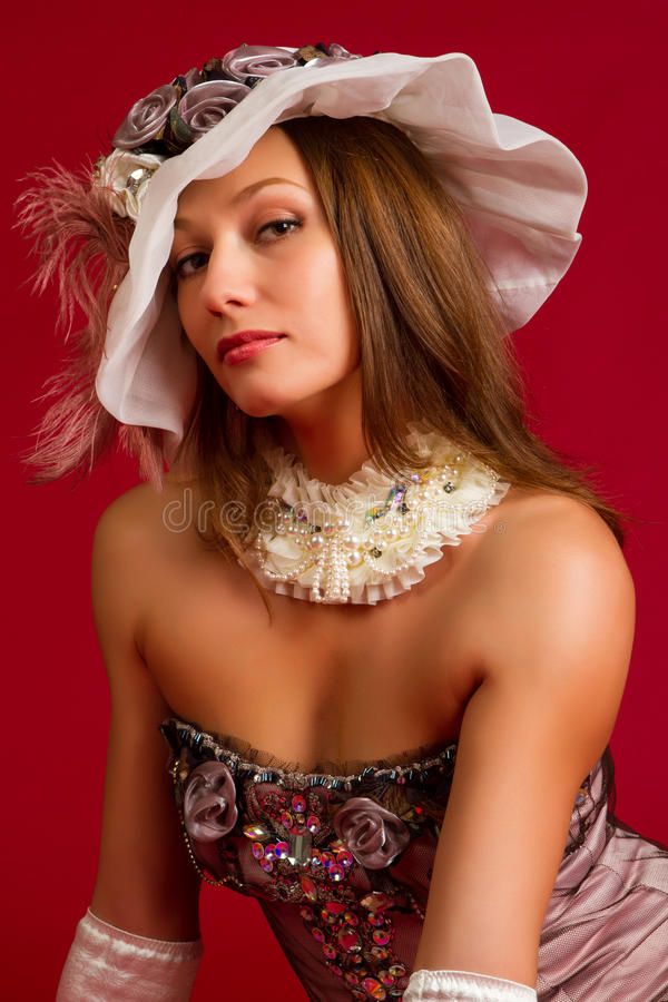 Portret van een mooie jonge brunette royalty-vrije stock afbeeldingen