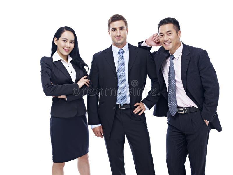 Portret van een multinationaal commercieel team stock fotografie