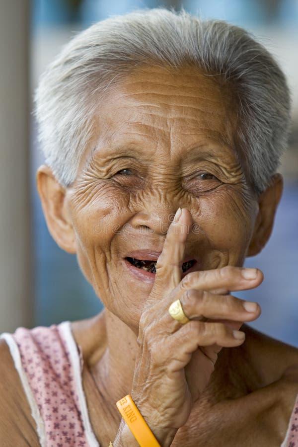 Portret van een oude Aziaat royalty-vrije stock fotografie