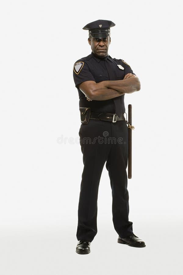 Portret van een politieman royalty-vrije stock afbeelding