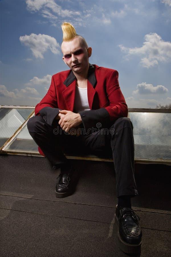 Portret van een punkbuitenkant. royalty-vrije stock foto