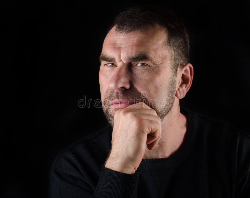 Portret van een rijpe mens royalty-vrije stock fotografie