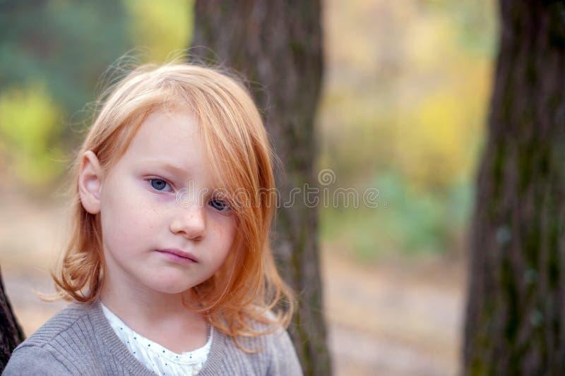Portret van een roodharig meisje stock afbeeldingen