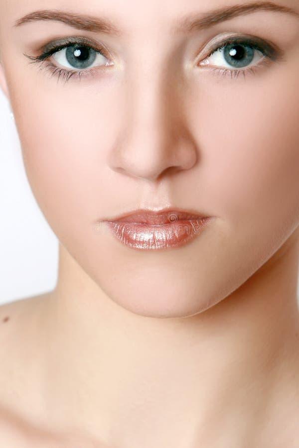 Portret van een schitterende brunette stock fotografie