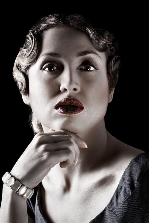 Portret van een sexy vrouw stock afbeelding